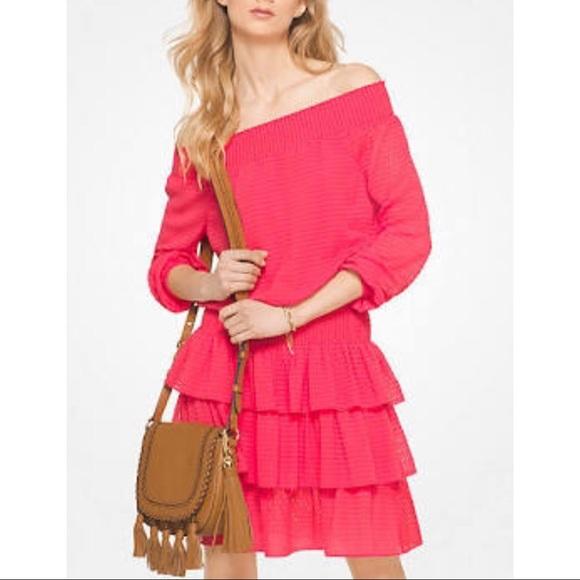 Michael Kors Dresses & Skirts - Michael Kors Women's Off Shoulder Dress Sangria